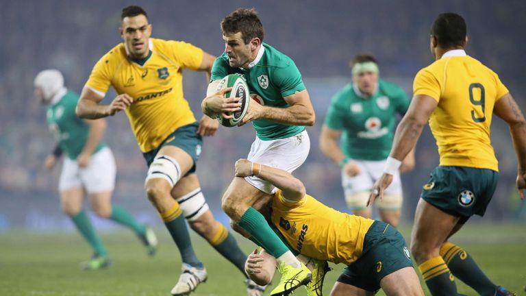 Jared Payne suffered kidney damage during Ireland recent win against Australia