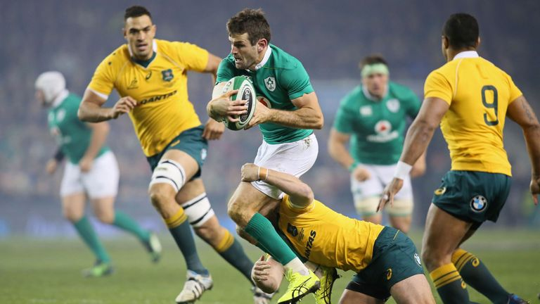 Jared Payne suffered kidney damage during Ireland recent win against Australia