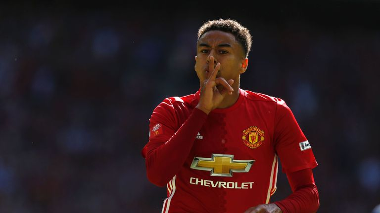 Jesse Lingard is another rival for a starting spot