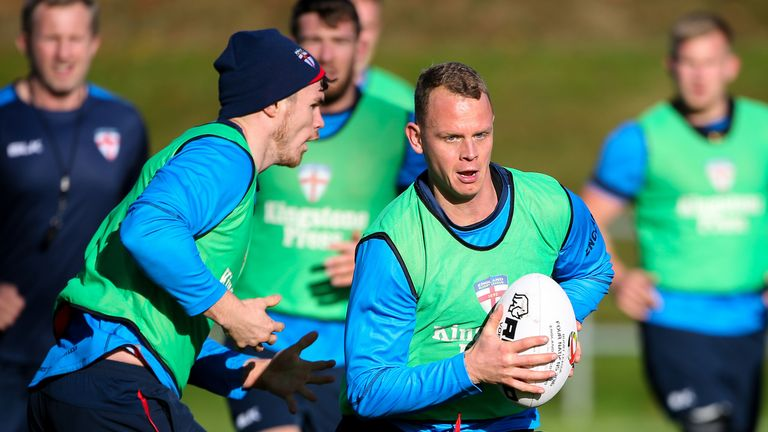 Warrington's Kevin Brown joined up with the England squad on Monday