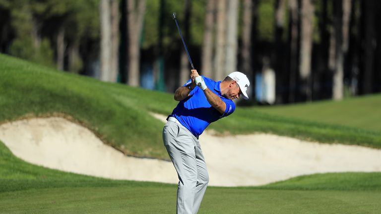 Lee Westwood in action at the Turkish Airlines Open