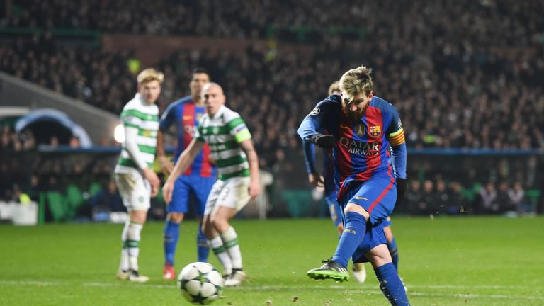 Lionel Messi scored his second of the match from the penalty spot