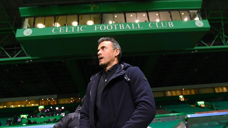 Luis Enrique saw his side progress at Celtic Park