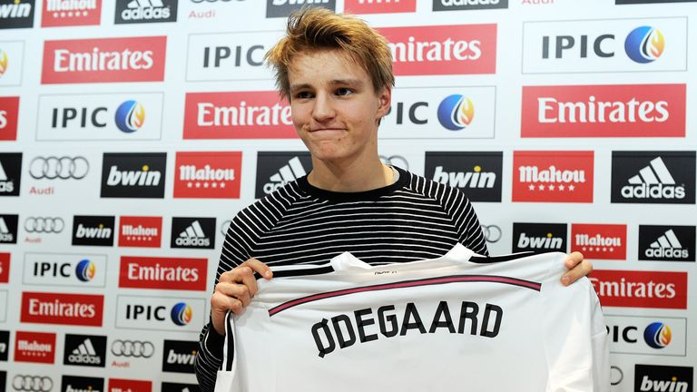 Odegaard was unveiled by Real Madrid in January 2015