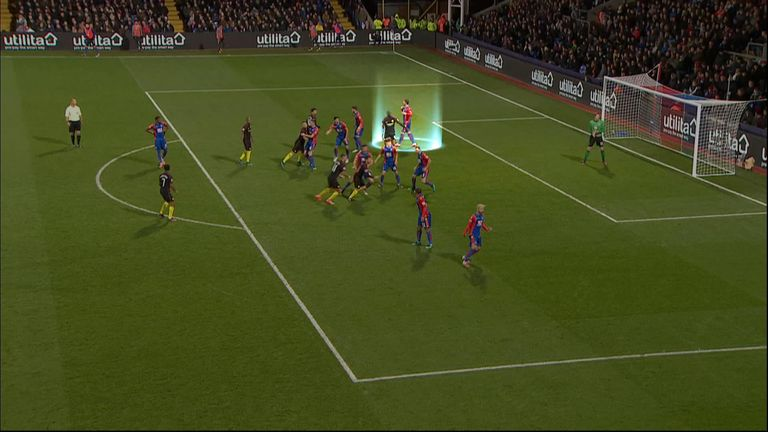 Connor Wickham loses Toure in the build-up to the goal