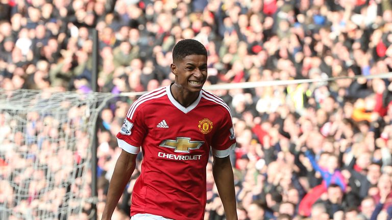 Rashford netted twice on his Premier League debut against Arsenal in February 2016