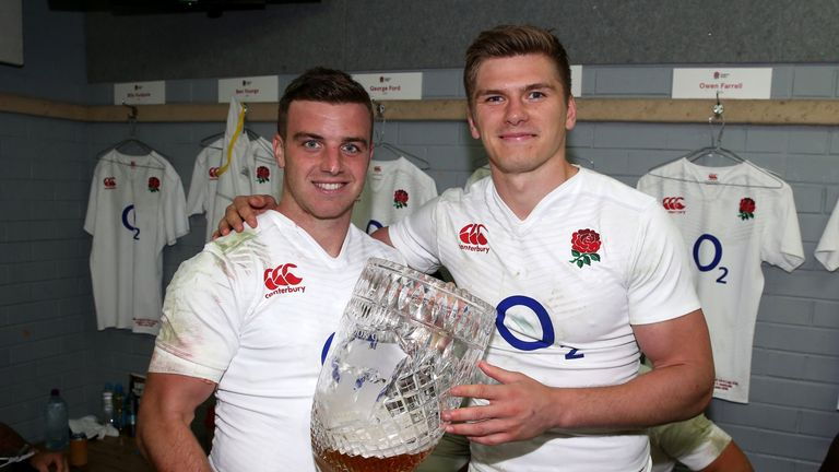Owen Farrell (R) and George Ford have formed a formidable partnership for England