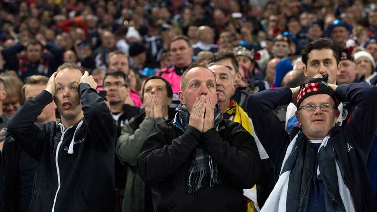 The Tartan Army watched Scotland lose 3-0 at Wembley in November