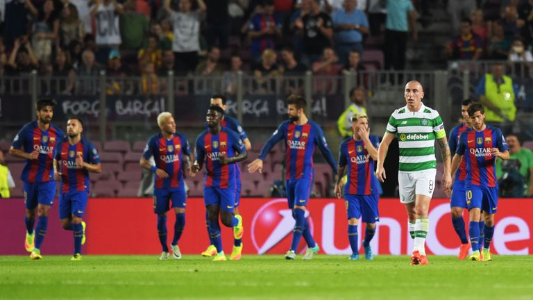 Celtic's Scott Brown has urged his side not to show Barcelona too much respect