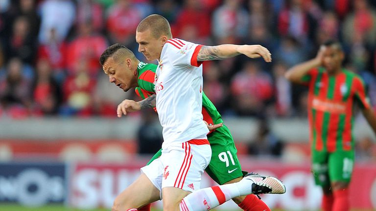Lindelof in action for Benfica