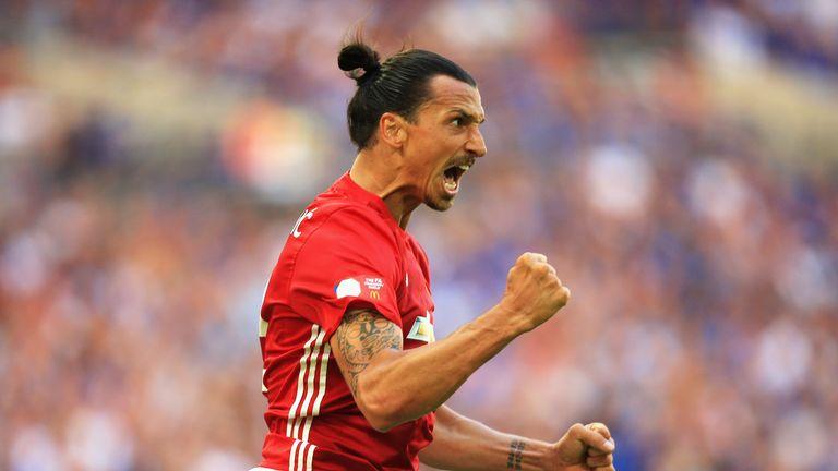 Zlatan Ibrahimovic has scored six Premier League goals for United this season