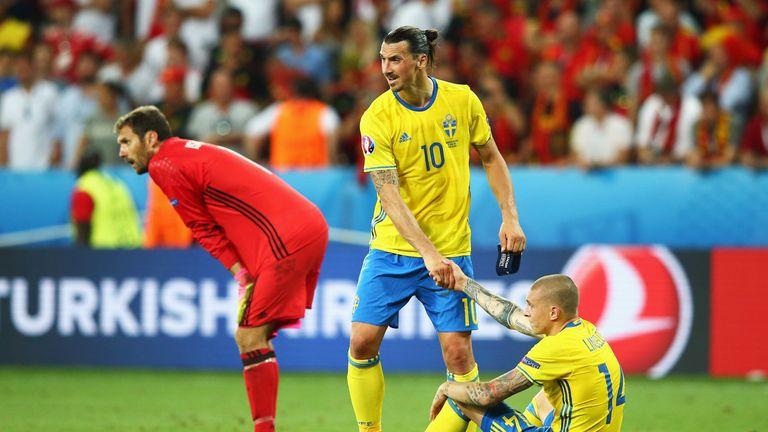 Lindelof with former Sweden team-mate Zlatan Ibrahimovic