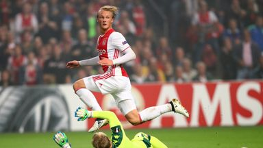 Kasper Dolberg has scored 10 goals in the Eredivisie this season