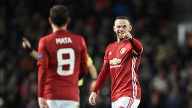 Wayne Rooney became Manchester United's leading goalscorer in Europe