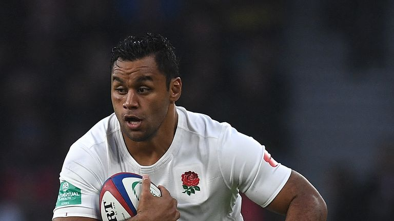 LONDON, ENGLAND - NOVEMBER 12:  Billy Vunipola of England in action during the Old Mutual Wealth Series match between England and South Africa at Twickenha