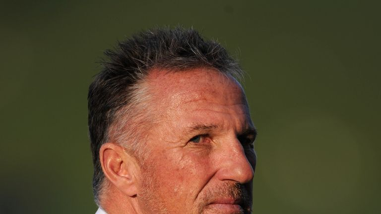 Former England cricketer and television pundit Sir Ian Botham during the second Test match between Pakistan and England