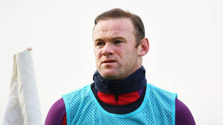 Wayne Rooney during an England training session at St Georges Park