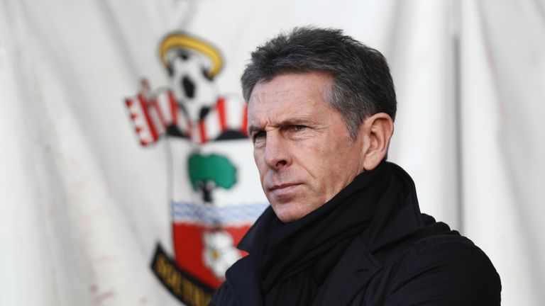 Claude Puel was appointed Saints boss on a three-year deal in June 2016