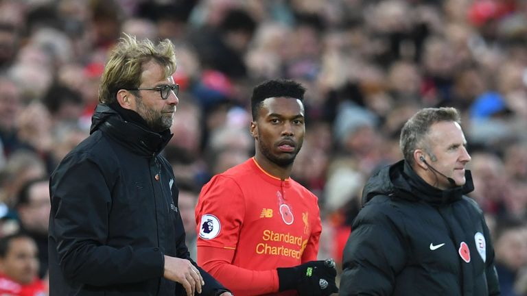 Daniel Sturridge has not featured prominently under Jurgen Klopp