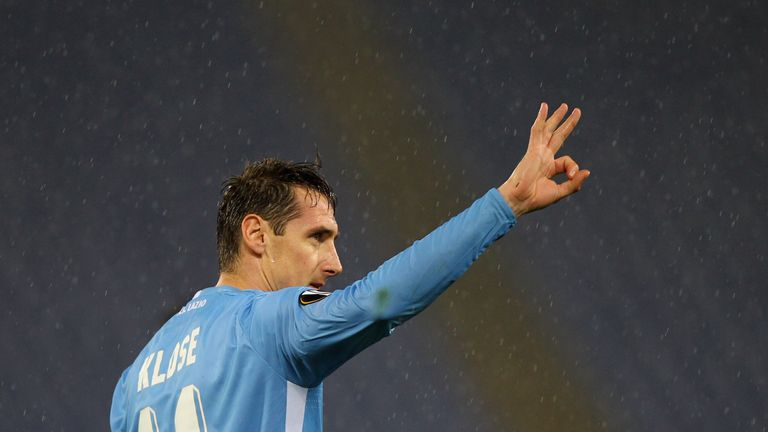 German striker Miroslav Klose was able to maintain his performance levels