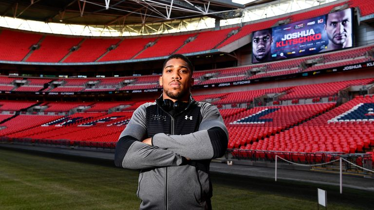 Anthony Joshua will fight Wladimir Klitschko at Wembley in April