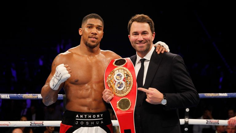 Eddie Hearn guided Anthony Joshua to a world title after the heavyweight turned professional