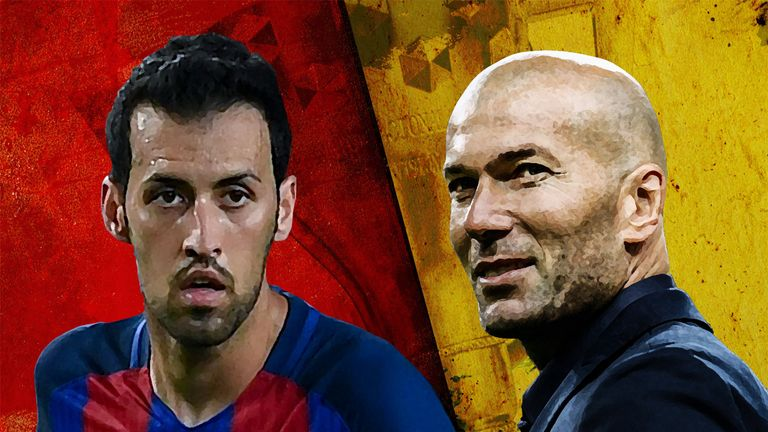 Sergio Busquets and Zinedine Zidane reflect wider stories at Barcelona and Real Madrid