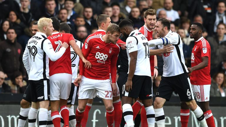Derby host fierce rivals Nottingham Forest live on Sky