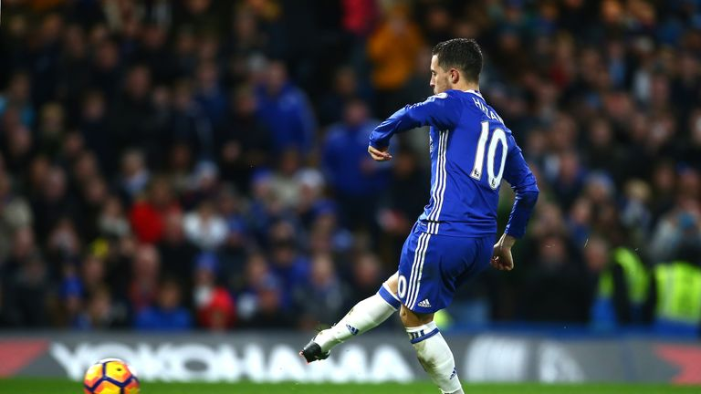 Eden Hazard doubled Chelsea's lead from the penalty spot