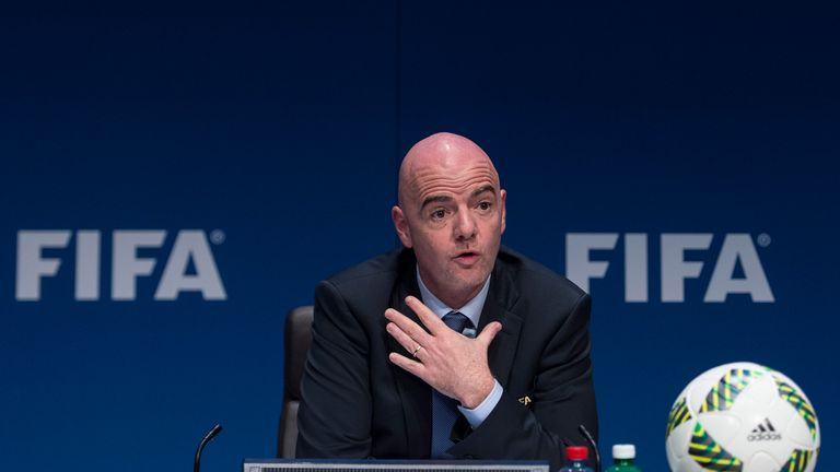 FIFA president Gianni Infantino was investigated by the Ethics Committee but was cleared in August 2016