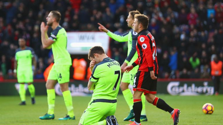 Liverpool lost 4-3 at Bournemouth last December