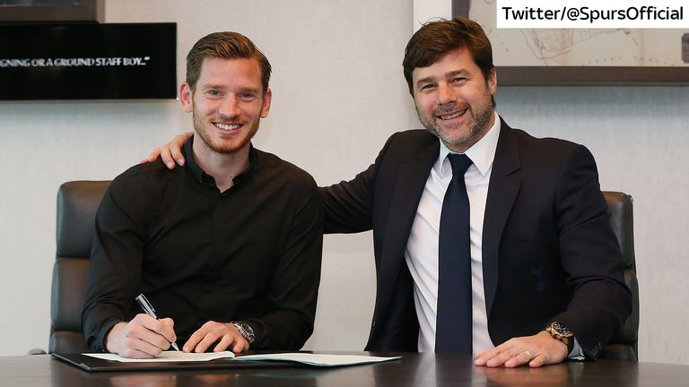 Spurs defender Jan Vertonghen has comitted his future to the club