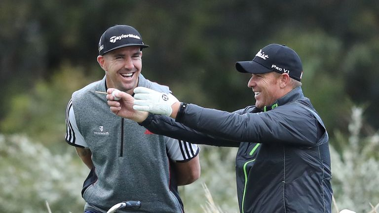 Kevin Pietersen and Shane Warne are regulars on the golf course