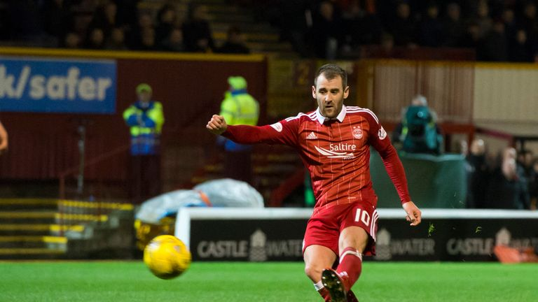 Niall McGinn's late strike gave Aberdeen a fifth win in six league games