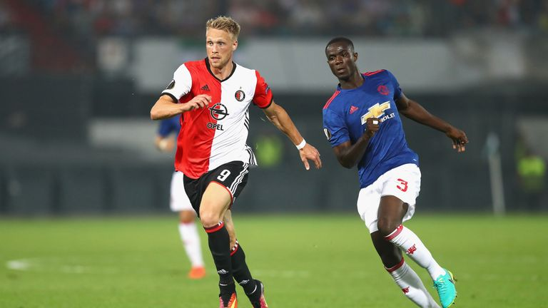 Nicolai Jorgensen bagged a late brace as Feyenoord retained their five-point lead at the top of the Eredivisie with a resounding 4-0 win over NEC Nijmegen