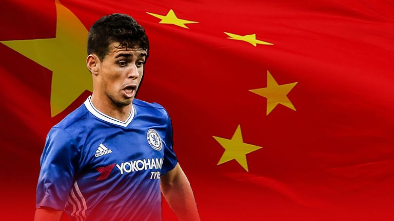 Ex-Chelsea forward Oscar has joined Chinese Super League side Shanghai SIPG