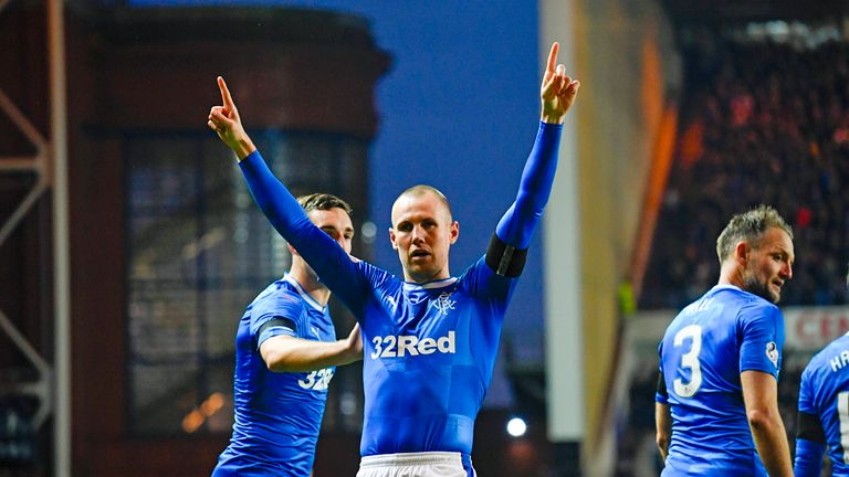Kenny Miller got the crucial first goal at Ibrox