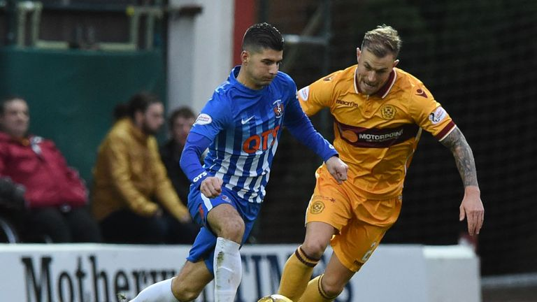 Jordan Jones (left) could be a key figure for Killie