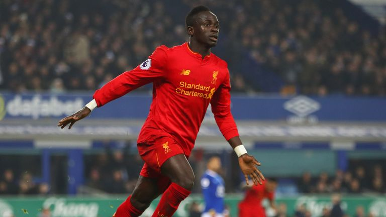 Sadio Mane scored the match-winning goal during Liverpool's 1-0 win at Everton in December