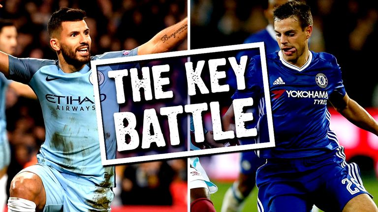 Could Sergio Aguero's battle with Cesar Azpilicueta be the key on Saturday?