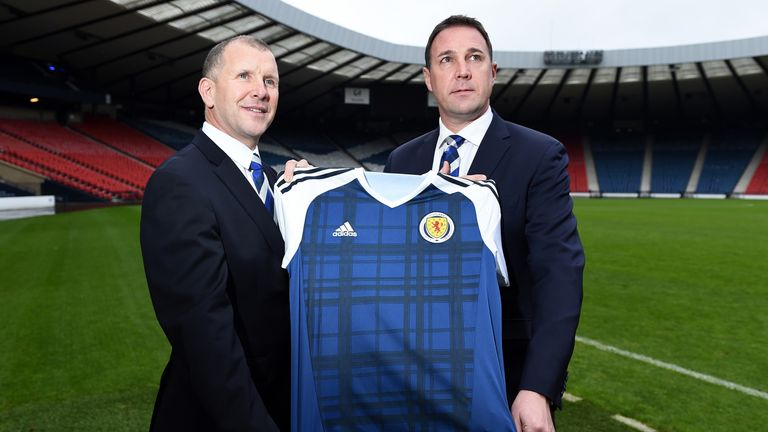 Malky Mackay (right) will take interim charge of Scotland