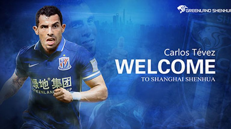Carlos Tevez joined Shanghai Shenhua from Boca Juniors
