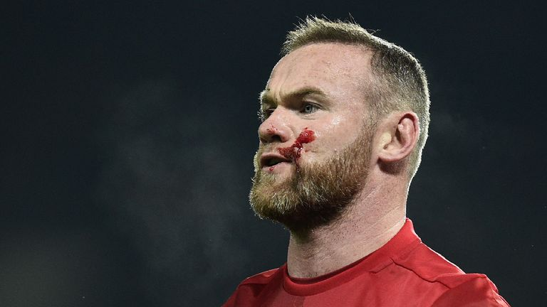 Wayne Rooney will miss Manchester United's trip to Everton on Sunday through suspension