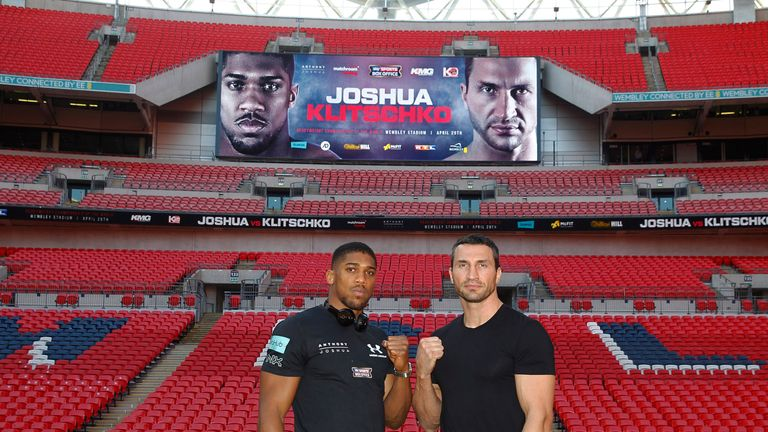 The heavyweights have attracted a crowd of 90,000 to Wembley
