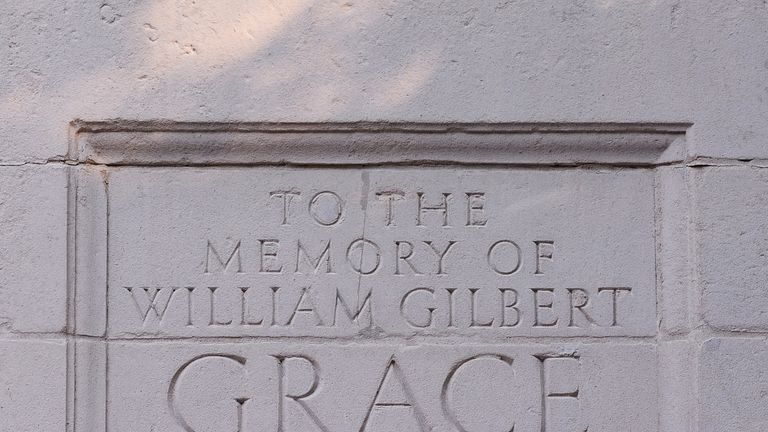 There is a permanent tribute to Grace at Lord's