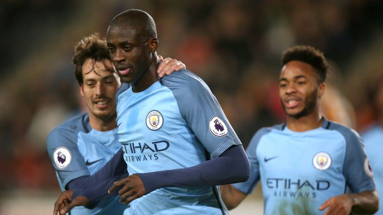Yaya Toure did not play a Premier League game under Pep Guardiola until November