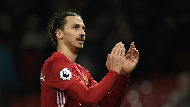 Manchester United's Zlatan Ibrahimovic has 52.5m followers on Facebook, Instagram and Twitter