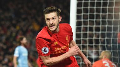 Adam Lallana is expected to earn in the region of £110,000 per week