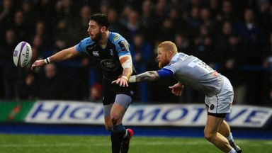 Alex Cuthbert starred as Cardiff blow away Bath