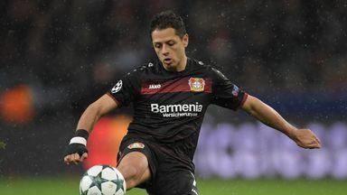 Javier Hernandez scored twice for Leverkusen on Friday evening